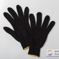 Перчатки ХБ черные универсал