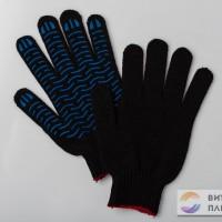 Перчатки черные волна